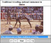 picture from slide show about traditional wrestling in Niger