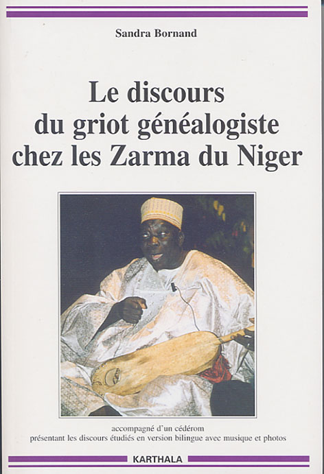 Photo of front page of book of Sandra Bornand, Le discours du griot; click left mouse button to view enlarged.